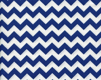 Chevron Zig Zag Navy Fabric