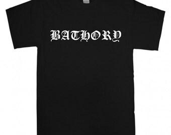 Bathory T-shirt New Black t shirt S M L XL XXL Black Metal Band Logo Celtic Frost Quorthon Venom Hellhammer