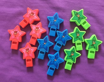 12 PJ Masks Star-shaped whistles