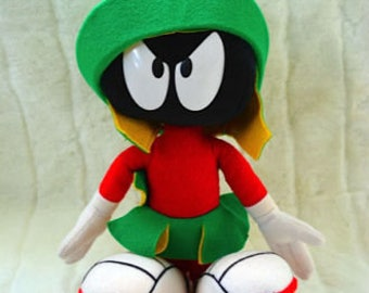 """Looney Tunes- 1994 Applause MARVIN the Martian 12"""" Bendable Poseable Plush"""