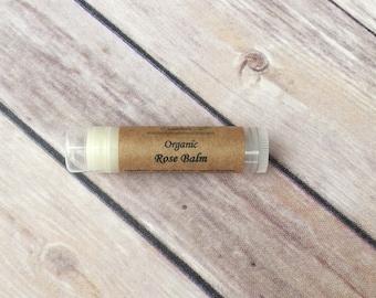 Organic Rose Balm - Organic Lip Balm - Best Natural Lip Balm - Shea Butter Lip Balm - Beeswax Lip Balm - All Natural Lip Balm - Party Favors