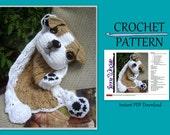 Bulldog Puppy Blankie Crochet Pattern - Instant PDF Download