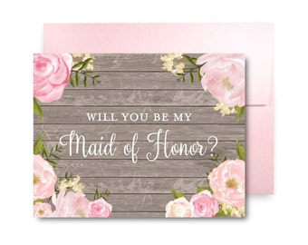 Will You Be My Bridesmaid Card, Bridesmaid Cards, Ask Bridesmaid, Bridesmaid Maid of Honor Gift, Matron of Honor, Flower Girl #CL203