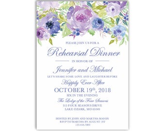 Rehearsal Dinner Invitation Template, DIY Rehearsal Invitation, Cheap Invitation, Floral Invitation, INSTANT DOWNLOAD Microsoft Word #CL330