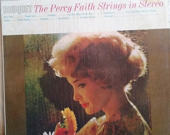 The Percy Faith Strings in Stereo, Bouquet, Vintage Record Album, Vinyl LP, Easy Listening Instrumental Music, Popular Tunes