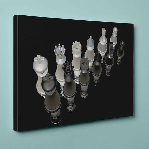 Chess v-5 | Mirror Wrap HP Professional Canvas