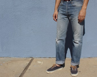 Levi's 501 Jeans Size 30, 90s Levi's 501 Jeans, Vintage Levi's 501 Jeans, Distressed Jeans, Levis Made In USA, size 30 Men's Stock4141717