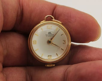 Antique original perfect bucherer mark  european 14k gold for lady necklase watches