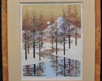 James Hagen Shadows 1980 Art Silkscreen Print Artist Proof AP Framed and Matted