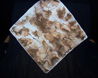 Silk Purse Scarf/Hankerchief - Fall Leaves