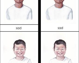 Preschool Montessori Emotions/Mindfulness Flash Cards PDF