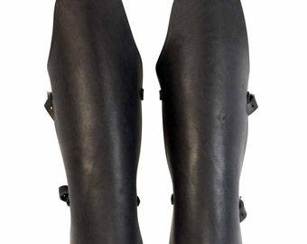 Leather Gladiator Greaves - Leg Armor - #DK5201