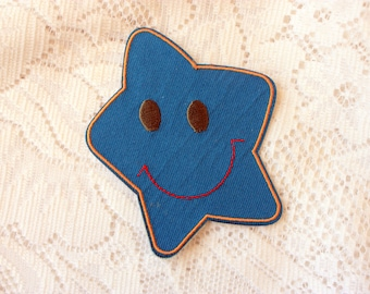 Star Iron On Patch, Sew On Star Patch, Star Sew On Patch, Iron On Star Patch, Star Applique