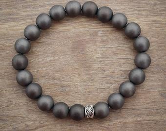 Mens Grey Bracelet
