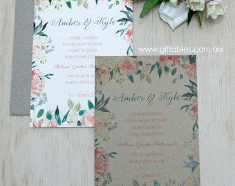 Rose Garden 5 x 7 Printed Invitation