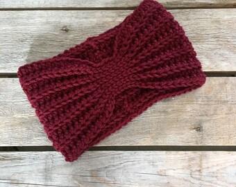 Crochet Turban Headband, Chunky Headband, Women's Headband, Crochet Headband, Turban Headband, Turban Headband Womens