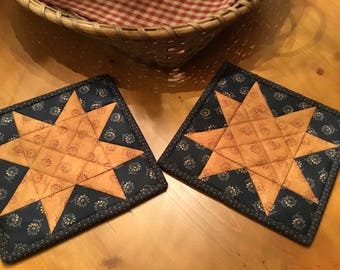 Kitchen Potholders/Handmade/Quilted Potholders/Country Decor/Item #2040