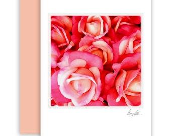 Pink Rose  Note cards beautiful Artwork roses