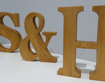 wood letters wood initials home decor handmade large wooden letters ampersand letter word art