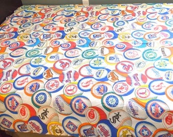 Vintage MLB Twin Flat Sheet