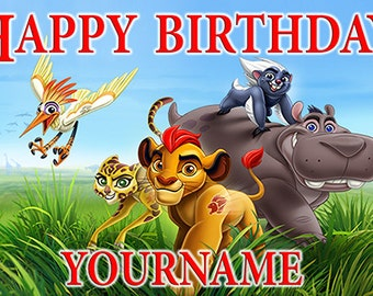 Lion Guard Birthday Banner