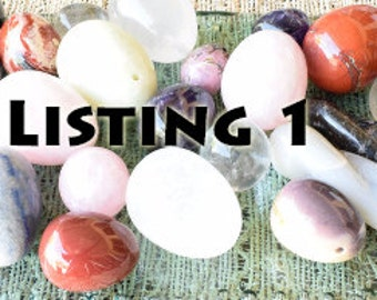 Clearance Yoni Eggs, Perfectly Imperfect, All Sizes, Drilled & Undrilled, Assorted Gemstones, Small Blemishes, Super Sale