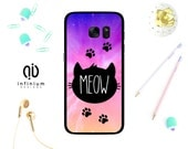 Meow Cat Case For Samsung S8 iPhone 7 iPhone 7 Plus 6S 6 Plus SE 5S S8 Edge S7 S7 Edge Galaxy J5 Galaxy J3 A3  A5 Core Prime