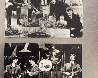 2 beatles postcards from 1964