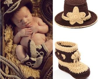 Cowboy infant photo prop,infant photo prop ,western baby photo prop , western baby picture , western infant costume