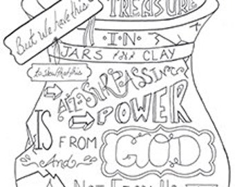 names of god bible journaling printable download Coloring Pages Creation Day 1 Coloring Pages Creation Day 1