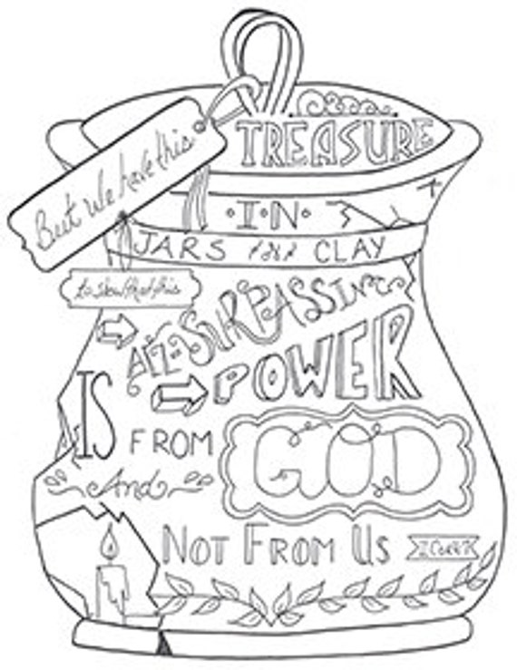 by his power jars of clay coloring pages bible class