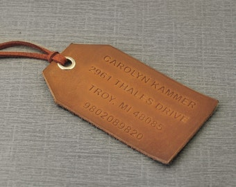 Custom leather tag | Etsy