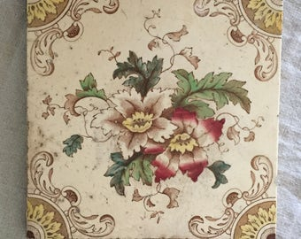 Vintage Floral Decorative Tile