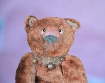 Artist Teddy Bear OOAK antique teddy bear vintage toy Plush Sawdust Soft sculpture Teddy Bear to order Сlassic teddy bear brown teddy bear