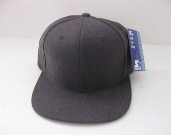 Vintage Starter Grey Snapback Hat Blank NEW RARE