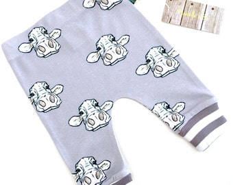 READY to SHIP baby leggings, baby clothes, cow baby leggings, organic baby clothes, toddler pants,  baby pants, baby gift, cows, farm