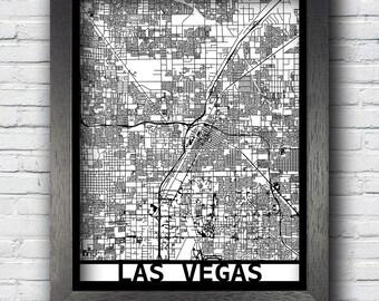 Las Vegas, Nevada Map, Framed Laser Cut Map, Las Vegas Wall Art, Map of Las Vegas, 3D Street Map, 24x18 Map, 18x14 Map, 14x11 Map,Custom Map