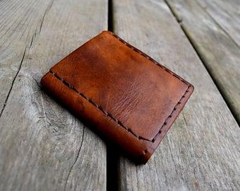 Brown vintage leather wallet