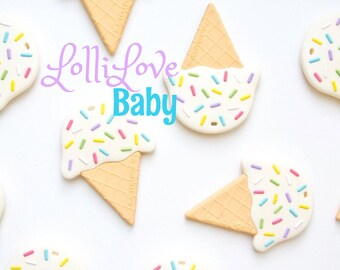 Ice Cream Cone Teether/ Silicone/ teether/ gift/ chewtoy/ shower gift/ unique gift/ ice cream