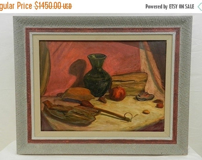 Storewide 25% Off SALE Original Walter Alexander Bailey (Listed American Artist 1894-1989) Oil on Canvas Depicting Classic Home Countertop S