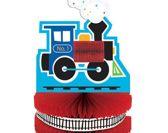 My Choo Choo Train party centerpiece / train theme / train party / railroad party /