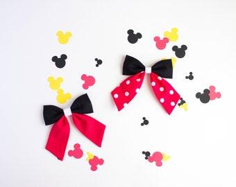 Disney Bow, Mickey Bow, Minnie Bow, Toddler Bow, Baby Bow