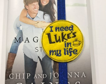 GILMORE INSPIRED BOOKMARK! Luke's in my life. Luke's diner bookmark! Elastic bookmark. Gift for the book lover, planners, journals, & more!