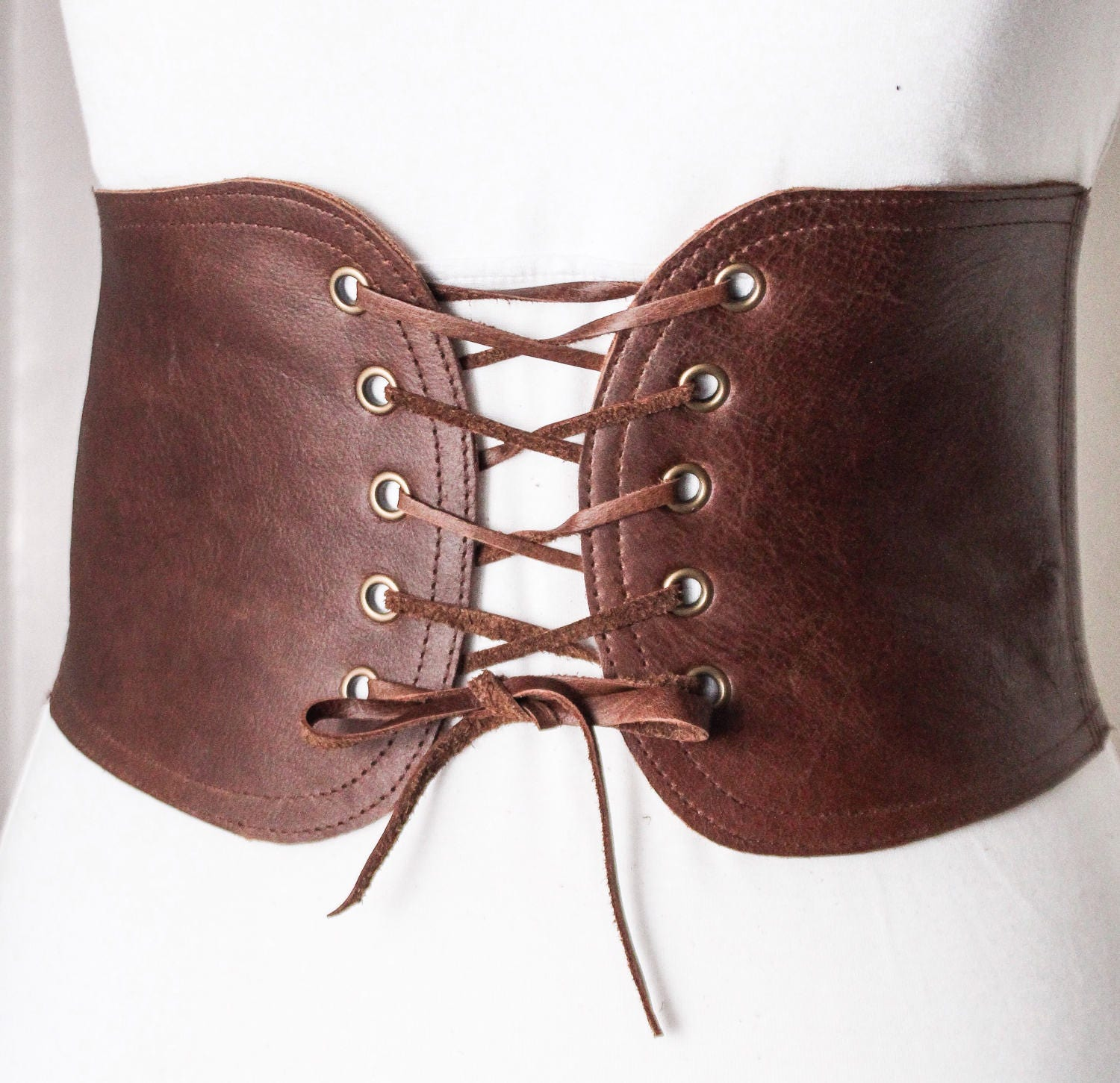 brown lace up corset leather belt brown lace up waist