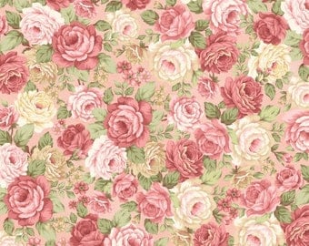 Peaceful Garden Floral Fabric Henry Glass-8698