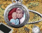 Personalised Custom Quartz Pocket Watch Gift Box  Engraving