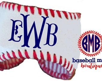 Personalized Monogrammed Baseball Cuff Bracelet