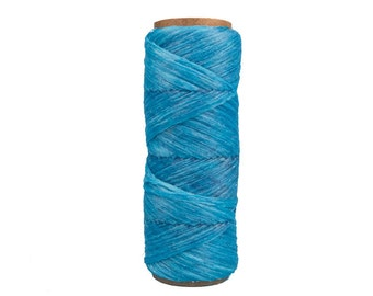 100 foot Spool of Turquoise Blue 1/8th wide 60 lb test Imitation Sinew