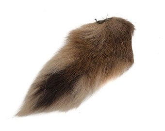 1 (one) dyed Deer Tail: Tan (148-041)