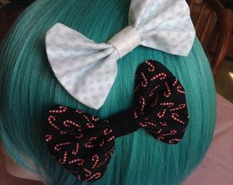 Hand Sewn Christmas Hair Bow Accessory